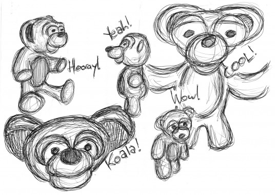 some bears i drew today