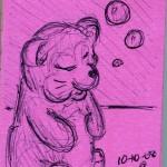 A Bear-like Creature Near Some Bubbles
