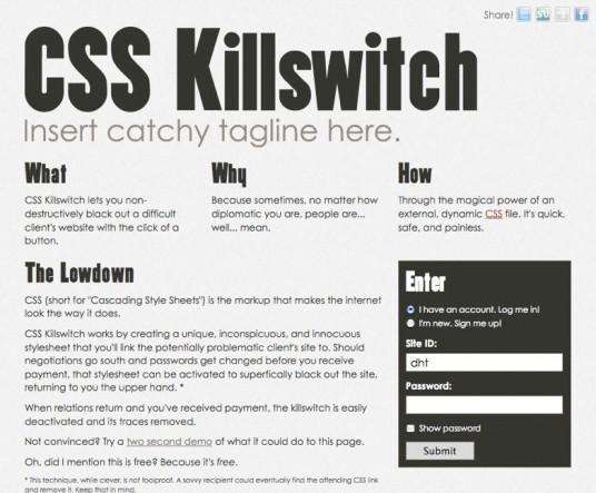 CSS Killswitch