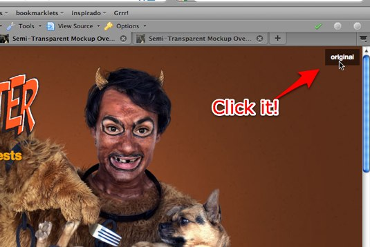 Semi-Transparent Mockup Overlays with CSS Demo